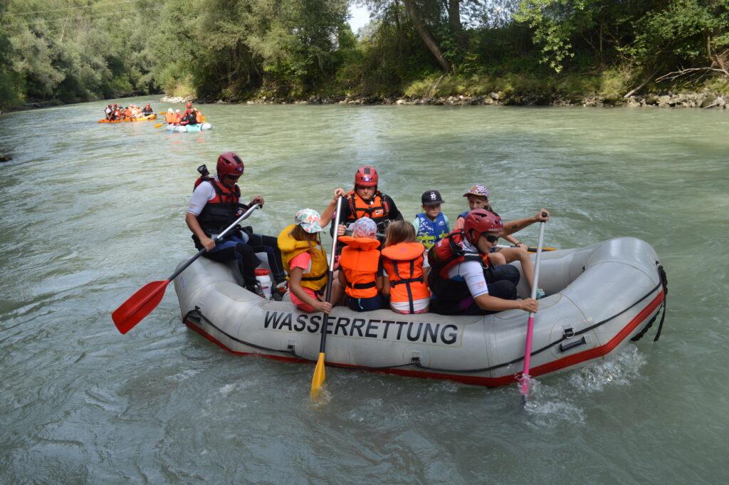 Raft Tour auf der Enns
